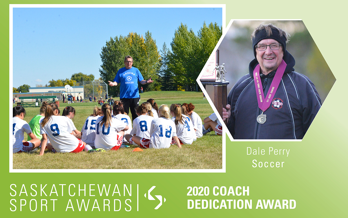 Soccer's Dale Perry honoured with Coach Dedication Award