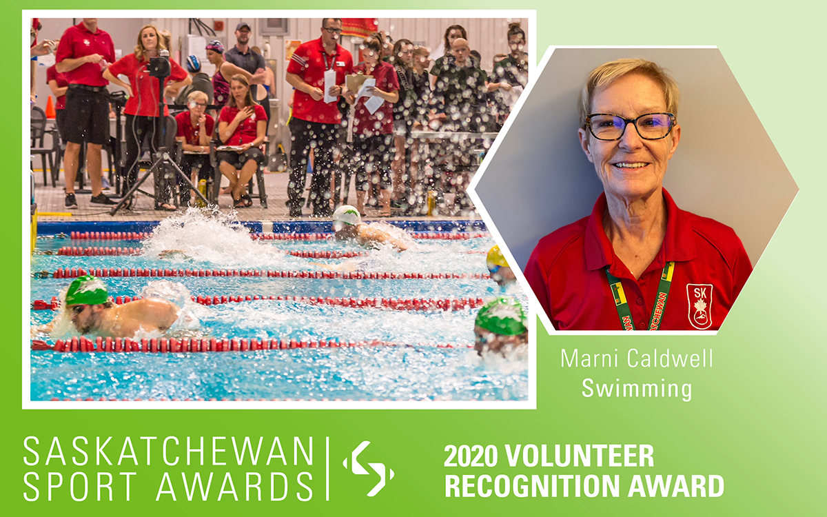 Trusted swimming official, Marni Caldwell, honoured with Volunteer Recognition Award