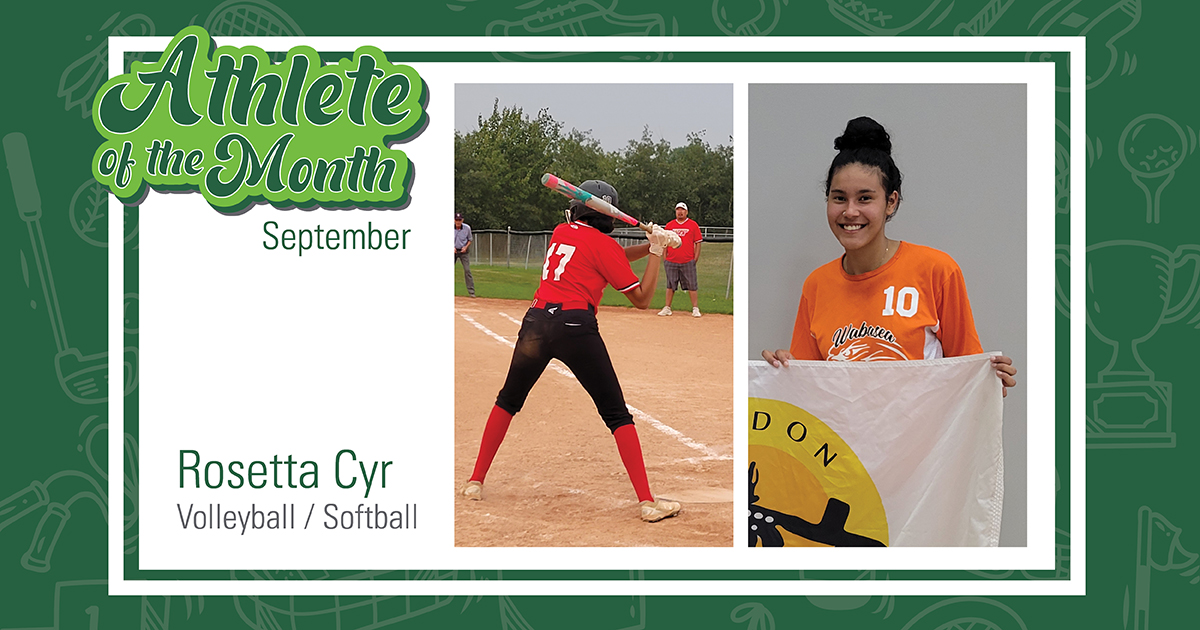Dual sport athlete Rosetta Cyr earns September Athlete of the Month